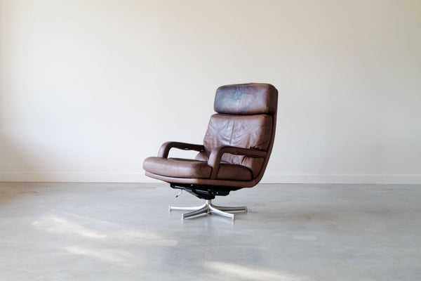 Walter Knoll leather arm chair