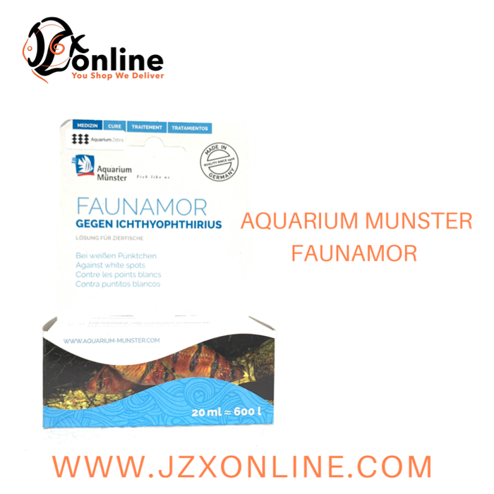"AQUARIUM MUNSTER Faunamor - 20ml (Against ick""white spots"")"