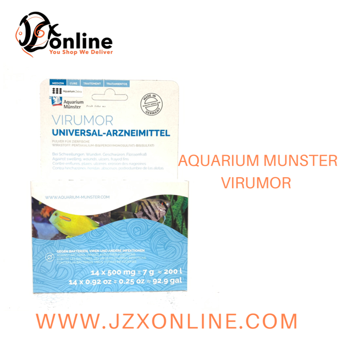 AQUARIUM MUNSTER Virumor - 14 x 500mg (Against swelling, wounds, ulcers, fryed fins)