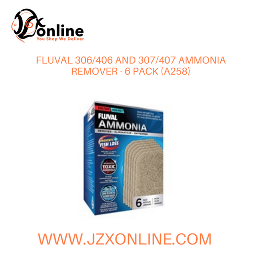 FLUVAL 306/406 and 307/407 Ammonia Remover - 6 pack (A258)
