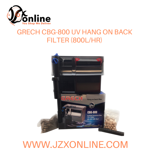 GRECH CBG-800 Hang On Back Filter with UV Function