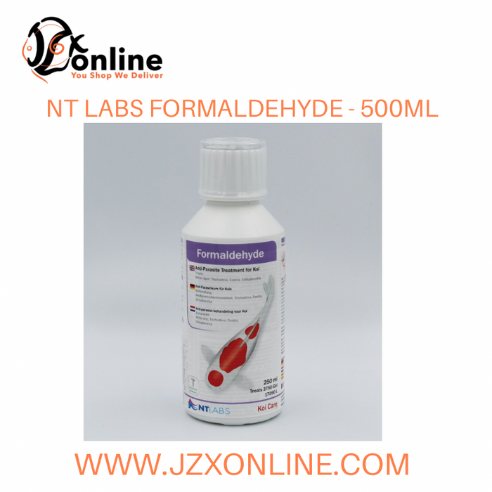 NT LABS Formaldehyde (Treats White spot, Trichodina, Costia and Chilodonella) - 500ml