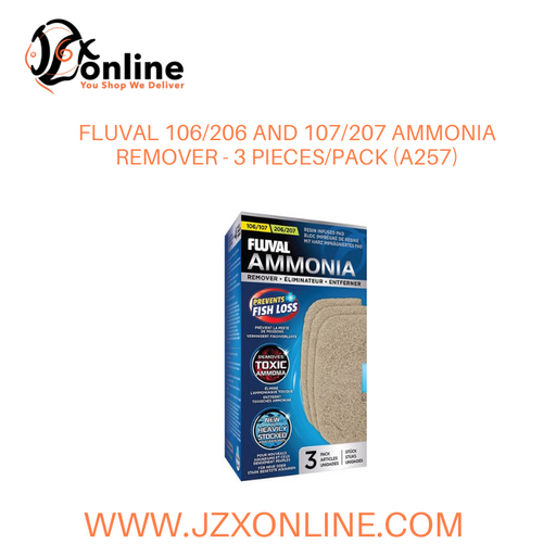 FLUVAL 106/206 and 107/207 Ammonia Remover - 3 pack (A257)