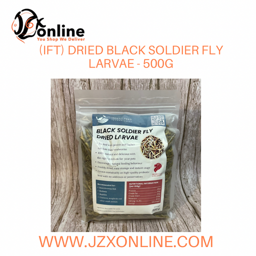 (IFT) Dried Black Soldier Fly Larvae - 500g