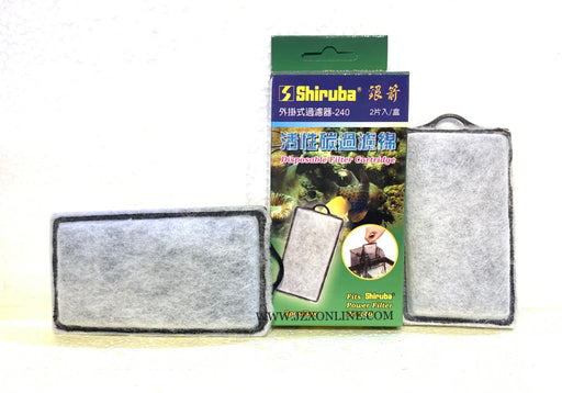 SHIRUBA Cartridge Replacment PF240 (2pcs/box)