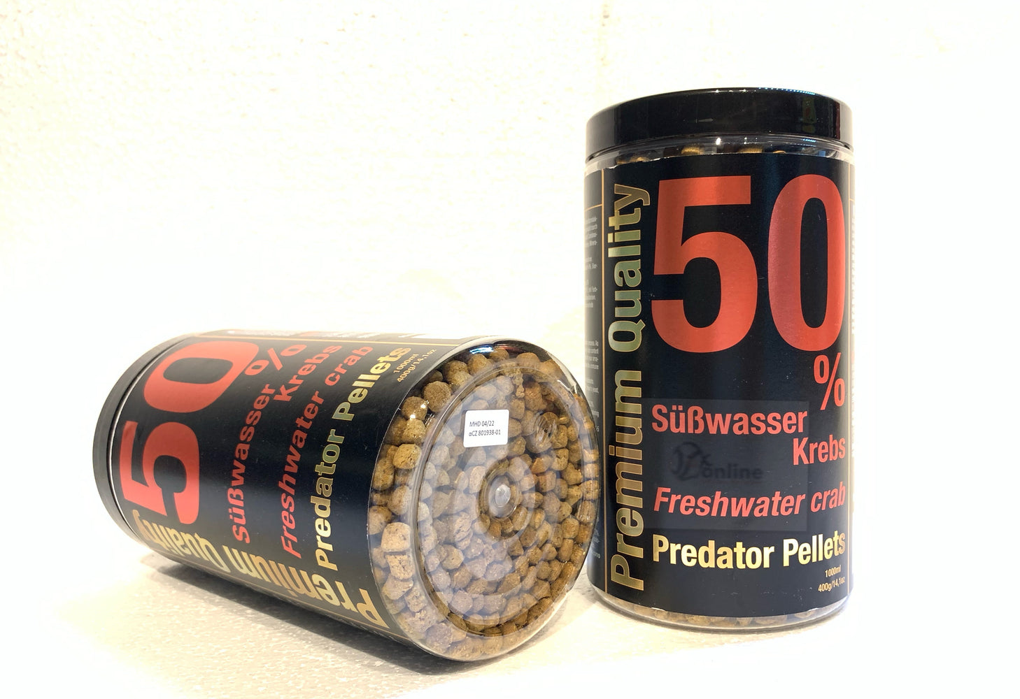 DISCUSFOOD Freshwater Crab Predator Pellets (floating food) - 400g