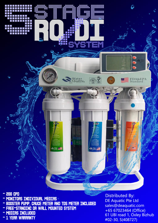 5 Stage RO/DI Unit with Booster Pump 200GPD