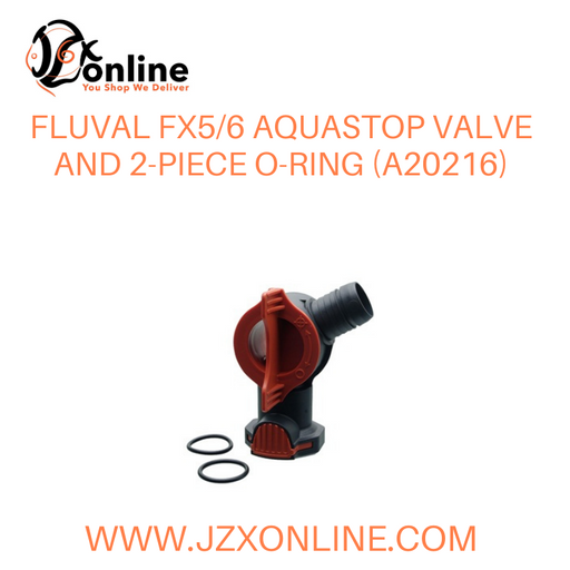FLUVAL FX5/6 AquaStop Valve and 2-piece O-ring (A20216)