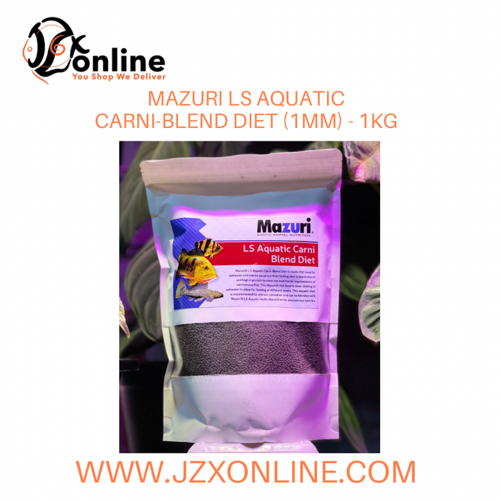 MAZURI LS Aquatic Carni-Blend Diet (1mm) - 1KG