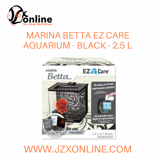 MARINA Betta EZ Care Aquarium - Black - 2.5 L (13358)
