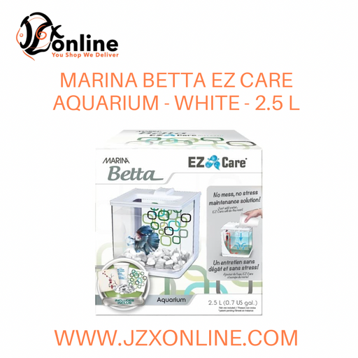 MARINA Betta EZ Care Aquarium - White - 2.5 L (13357)