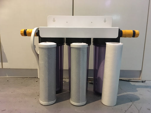 "10"" Pre-Assembled 3-Stage Water Filtration Set (Plug and Play inclusive)"