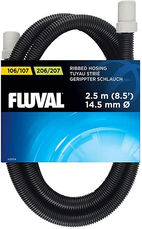 FLUVAL Ribbed Hosing for 106/206, 107/207 Filters, 8.5 ft. (2.5 m)