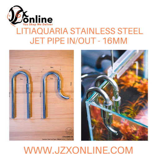 LITIAQUARIA 16mm Stainless Steel Jet Pipe In/Out