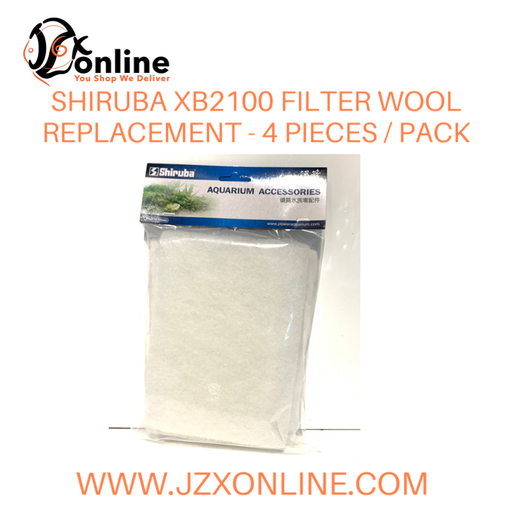 SHIRUBA Wool Replacement for XB2100 (4pcs/pack)