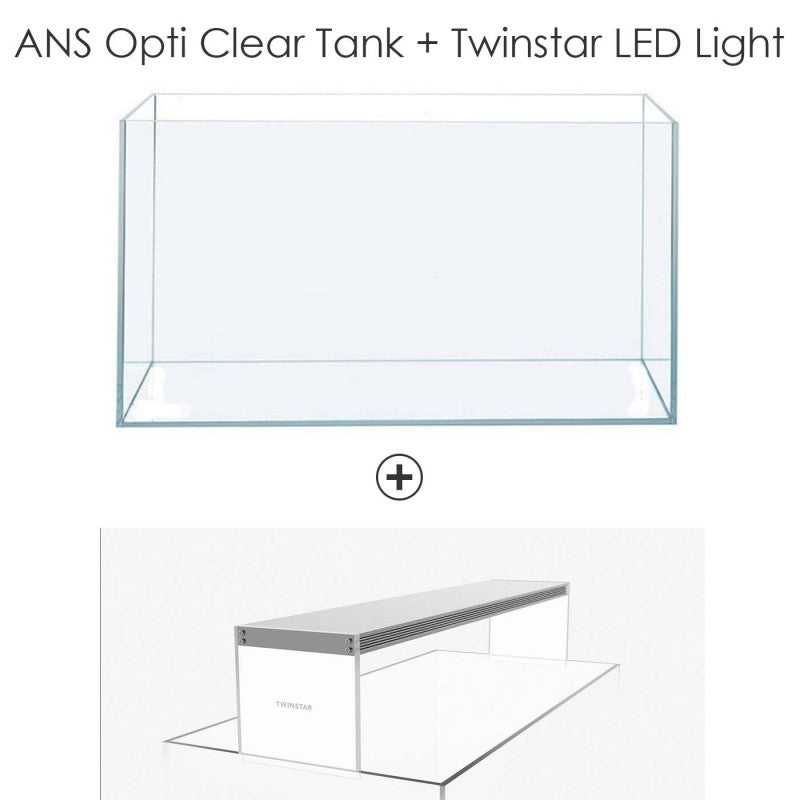 ANS Opti tank 45M + Twinstar LED Light 450CC (45 x 27 x 30cm)