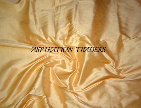 Gold Silk Taffeta Fabric - Aspiration Traders