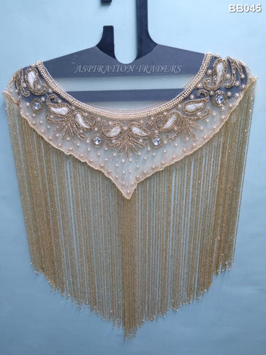 Net Lace Beaded Blouse - BB045 - Aspiration Traders