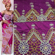 Load image into Gallery viewer, Trending Magenta Color African Beaded Georges with blouses - BG093