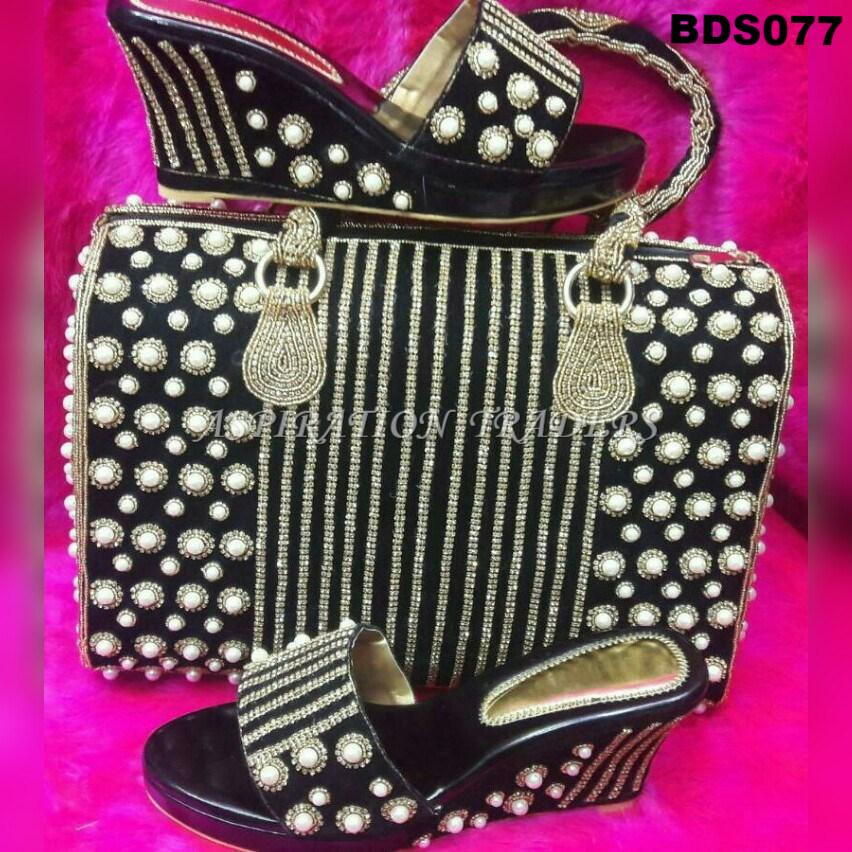 Hand Bag, Clutch & Shoes - BDS077 - Aspiration Traders