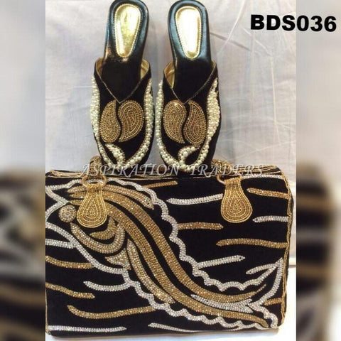 Hand Bag, Clutch & Shoes - BDS036 - Aspiration Traders