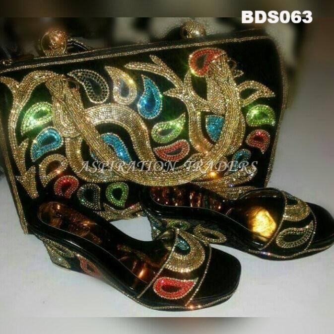 Hand Bag, Clutch & Shoes - BDS063 - Aspiration Traders