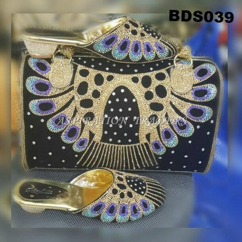 Hand Bag, Clutch & Shoes - BDS039 - Aspiration Traders