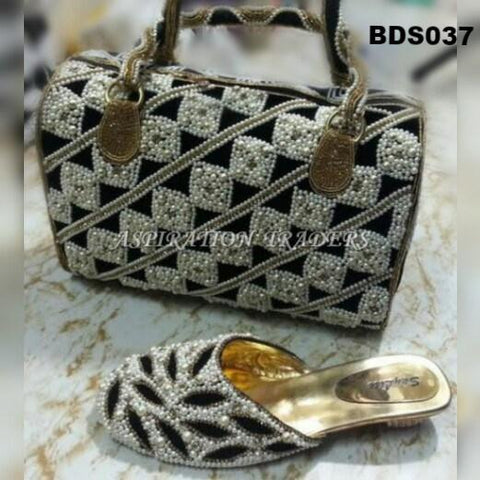 Hand Bag, Clutch & Shoes - BDS037 - Aspiration Traders