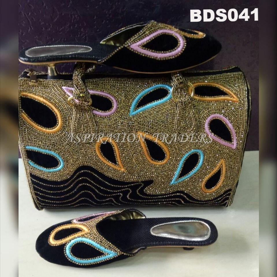 Hand Bag, Clutch & Shoes - BDS041 - Aspiration Traders