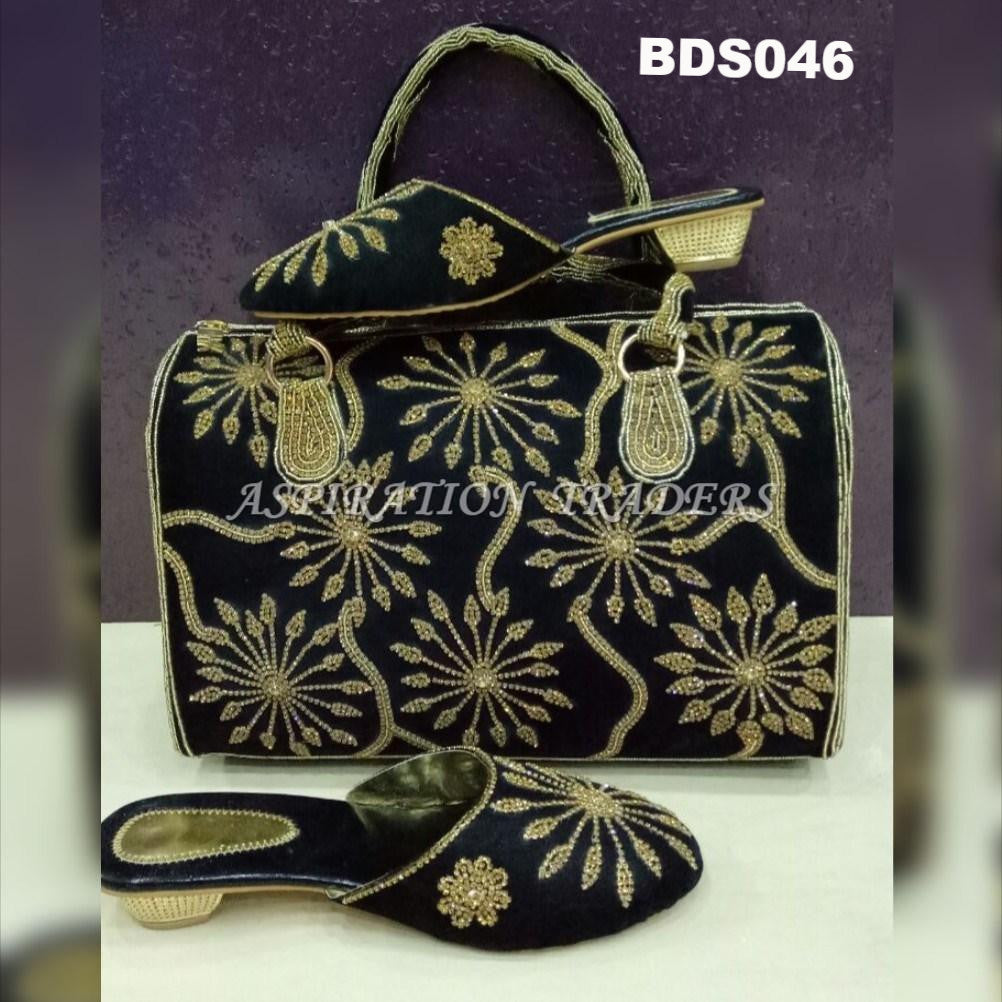 Hand Bag, Clutch & Shoes - BDS046 - Aspiration Traders