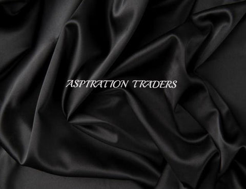 Black Silk Taffeta Fabric - Aspiration Traders