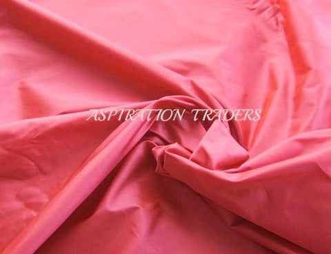 Coral Silk Taffeta Fabric - Aspiration Traders