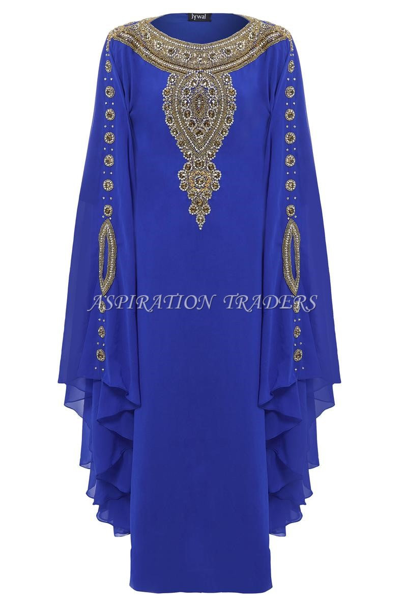 Royal Islamic Modern Elegant Dubai Moroccan Caftan Arabic party wear Beach kaftan- K054