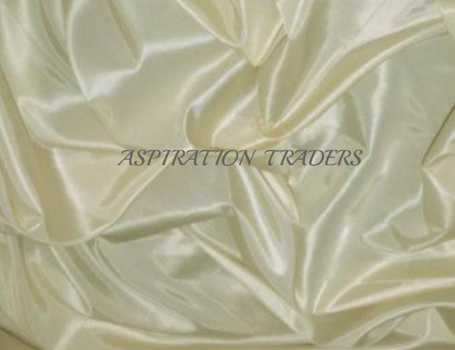 Off White (Cream Color)  Silk Taffeta Fabric - Aspiration Traders