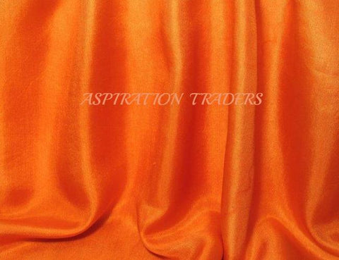 Orange Silk Taffeta Fabric - Aspiration Traders