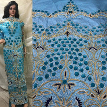 Load image into Gallery viewer, Latest Heavy Beaded George Wrapper With Designer Blouse- HB153