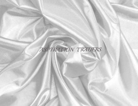 White Silk Taffeta Fabric - Aspiration Traders