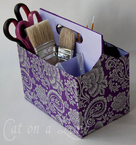 craft organizer using a 6 pack holder