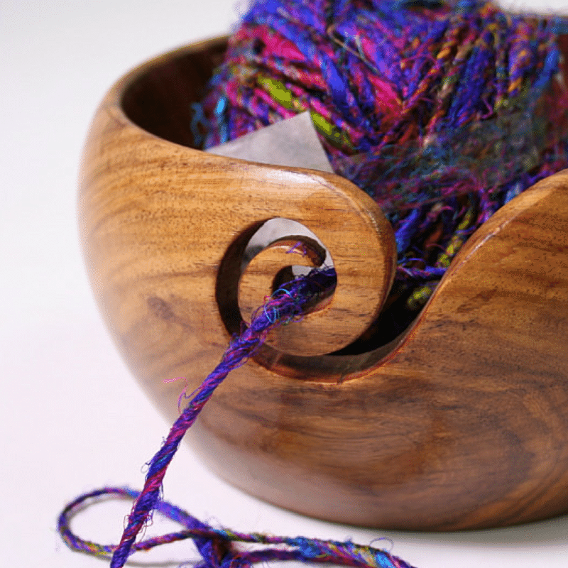 yarn bowl with yarn inside