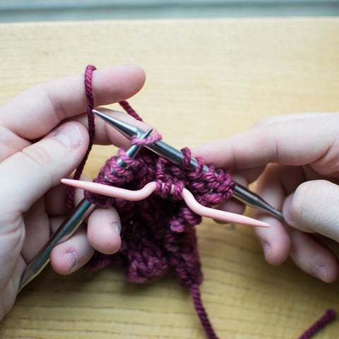 How to cable knit step 3