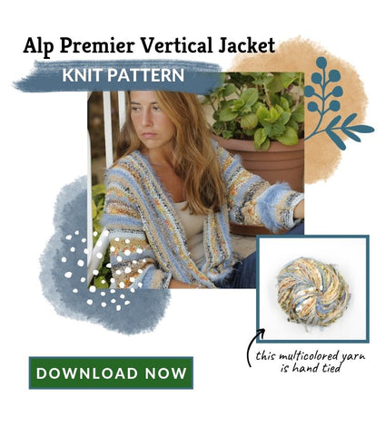 Alp Premier Vertical Jacket Knitting Pattern