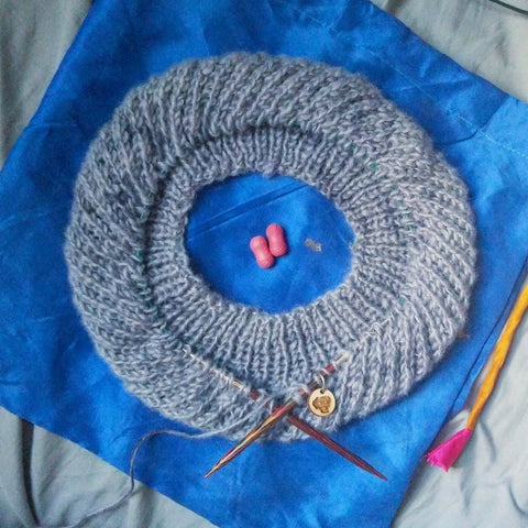 Knit Hat In Progress
