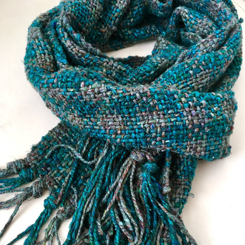 darn good yarn ocean storm tweed scarf