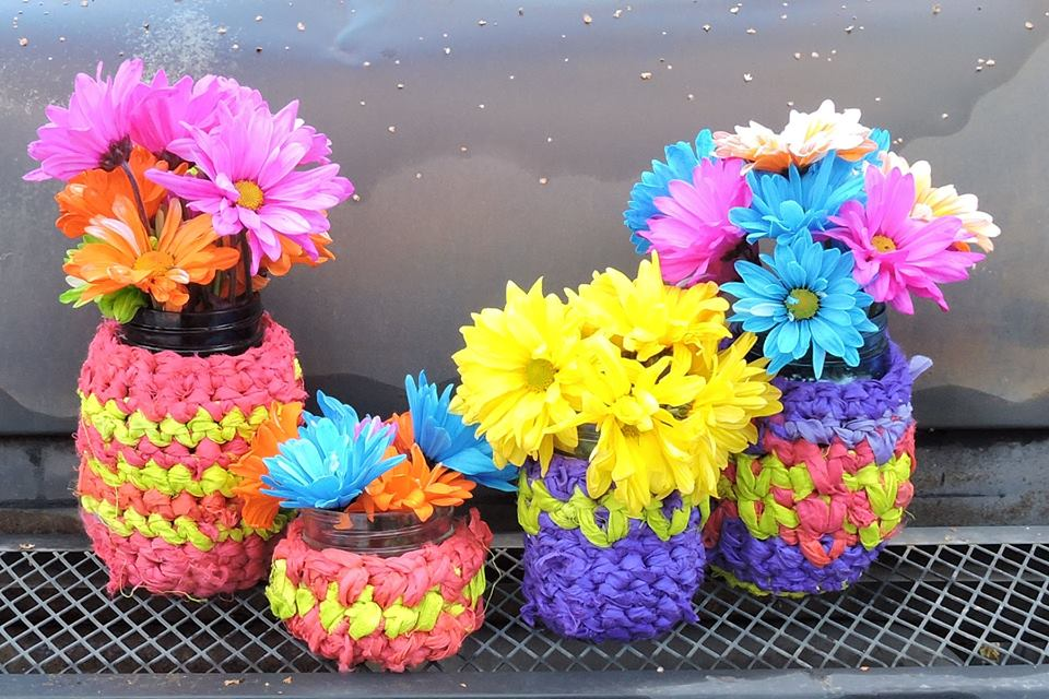 flower pots made out of fiber