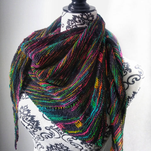 Neon Pop Shawl Knitting Kit