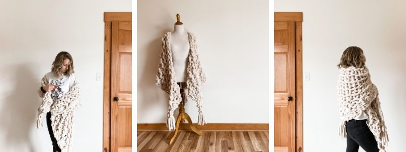 Hickory Tree Arm Knit Shawl