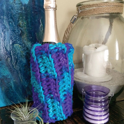 Darn Good yarn mermaid party wine sleeve