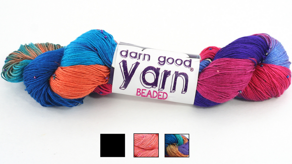 yarn skein over a white background