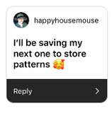 Happy House Mouse store patterns