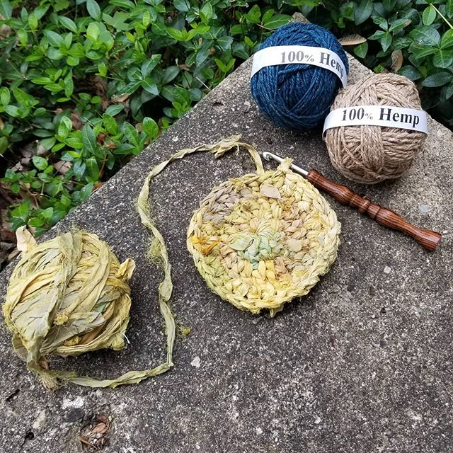 Crochet Project with Hemp and Recycled Silk Yarn